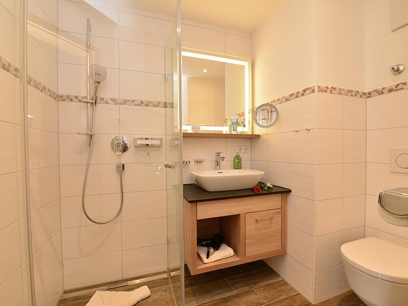 Badezimmer | Gasthof Bergblick in Riezlern